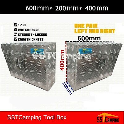 Aluminium Under Tray Body Tool Box Pair Undertray Underbody Ute Truck Toolbox