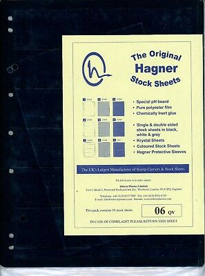 Hagner 6 Pocket Single Sided Stamp Stock Sheets Pack of 10
