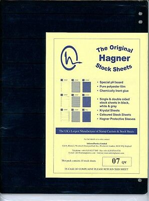 Hagner 7 Pocket Single Sided Stamp Stock Sheets Pack of 10