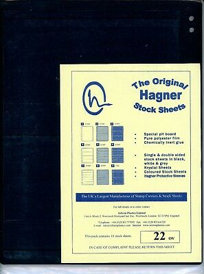 Hagner 2 Pocket Double Sided Stamp Stock Sheets Pack of 10
