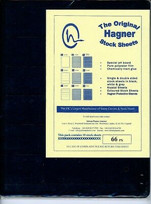 Hagner 6 Pocket Double Sided Stamp Stock Sheets Pack of 10