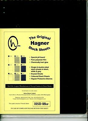 Hagner 8 Pocket Double Sided Stamp Stock Sheets Pack of 10