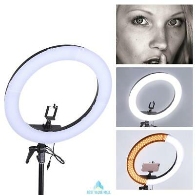"""19"""" SMD LED Ring Light 5500K Dimmable Continuous Lighting Photo Video Kit Tool"""