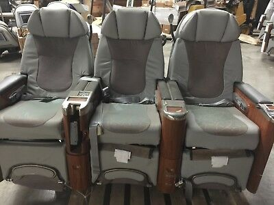First Class Airplane Seats (3) Electric Controls ~Recline~Fold Out Tables~3