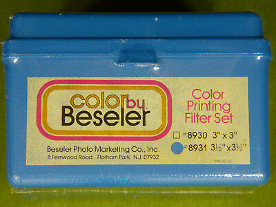 """Beseler 8931 3.5x3.5"""" Color Printing Filter Set of 24 filters New sealed box."""