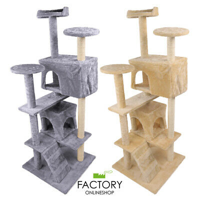 "52"" Cat Tree Tower Condo Furniture Scratch Post Pet Kitty Play House Bed"