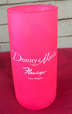 Donny & Marie Osmond Flamingo Las Vegas Pink Curved Tall Drink Glass