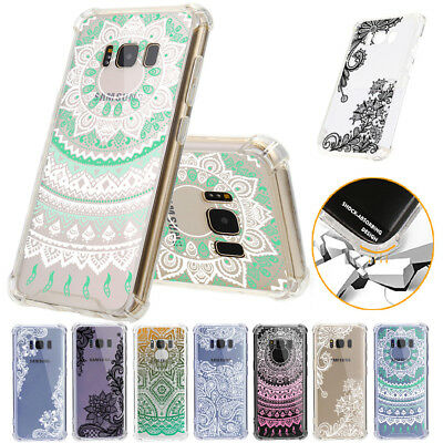 Shockproof TPU+PC Henna Mandala Floral Phone Case Covers For Samsung S7E S8 Plus