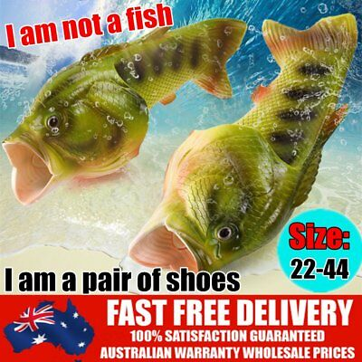 NEW Anti skid Beach Fish Slippers Breathable PVC Handmade Funny Fish Sandals CL