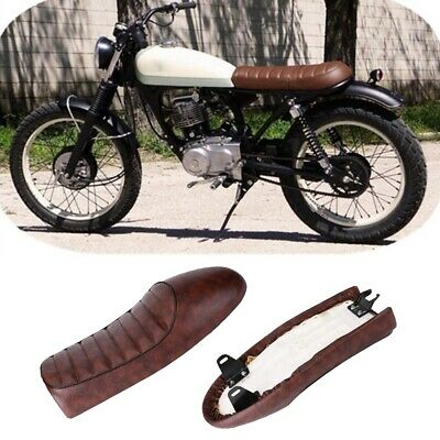 Motorcycle Seat Brown Flat Hump Saddle For Honda CG125 GN CB200 CB XJ Cafe Racer