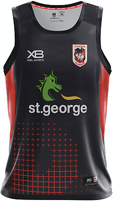 St George Dragons 2018 Nine Iron Training Singlet Sizes S - 5XL NRL XB In Stock!