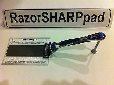 RazorSHARPpad Cartridge Sharpener Use On Gillette Razor Blades To x3 Blade Life