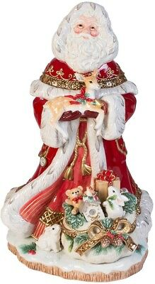 Fitz and Floyd Yuletide 19inch Santa Holiday Decor Figurine Christmas Decoration