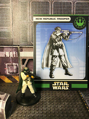 Star Wars Miniatures, Universe, #55 New Republic Trooper, Wizards of the Coast