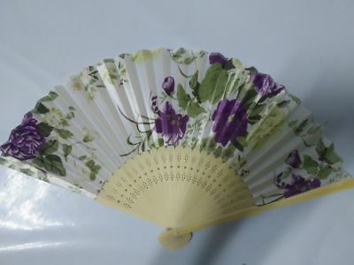 Chinese Folding Flower Butterfly Silk and Bamboo Lady's Women Girl Hand Fan2018