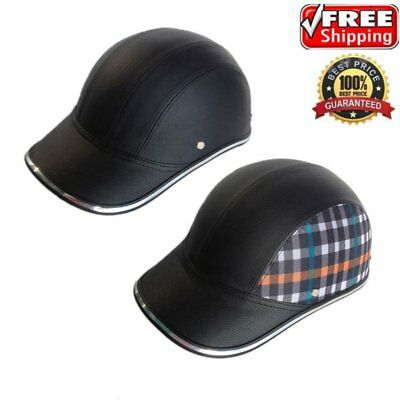 Motorcycle Bike Scooter Baseball Cap Style Half Open Face Safety Hard Helmet TT