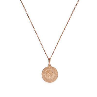 Rose Gold Plated Sterling Silver Saint Christopher Medal on Chain 14 - 32 Inches