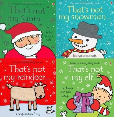 Touchy-Feely Christmas 4 Book Set: That's Not My Santa, Snowman, Reindeer, Elf