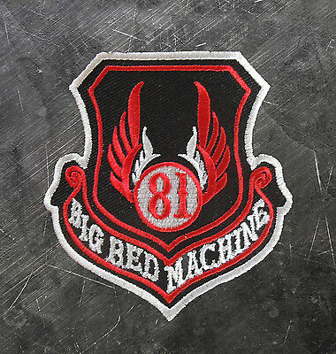 "HELLS ANGELS Support 81 Patch Aufnäher ""81 BIG RED MACHINE"" Wappen P07"