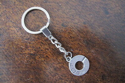 Hallmarked Sterling Silver 'alfred Dunhill & Sons' Keyring - Cased - 1977