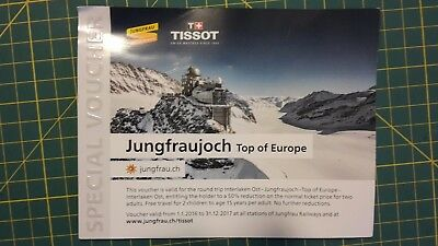 Voucher 50% discount for 2 persons Jungfraujoch Top of Europe Roundtrip Railway