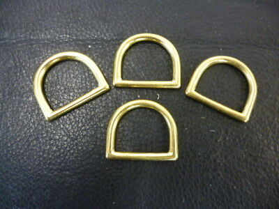 25mm 1'' D ring Heavy Solid Brass Finish Dog Collar Dee Harness Dees Craft Bag