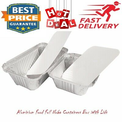 Aluminium Food Foil No6a Containers Box With Lids Best for Home and Takeaway Use