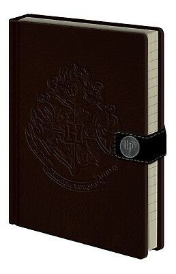 A5 Premium Harry Potter Hogwarts Crest Lined Notebook Journal Pad Leather Look