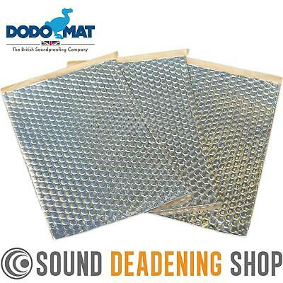 Dodo Dead Mat Hex Sound Deadening 3 Sheets 3sq.ft Car Van Vibration Proofing Mat