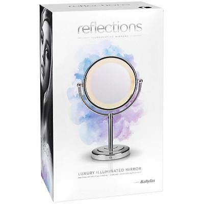 BaByliss Reflections Luxury LED Mirror Double-Sided Normal/8x Magnification 9434