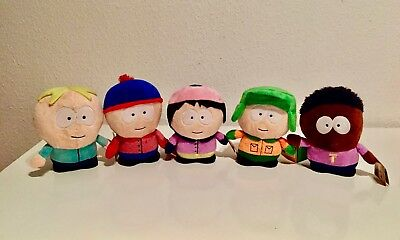 5x South Park Plüschfiguren (ca. 17cm)