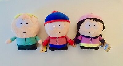 3x South Park Plüschfiguren (ca. 17cm)