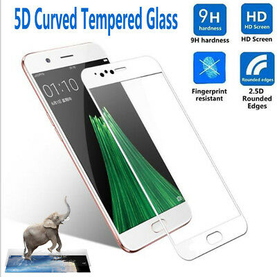 3D Cruved Full Tempered Glass Film Real Guard Screen Protector For OPPO R9s R11