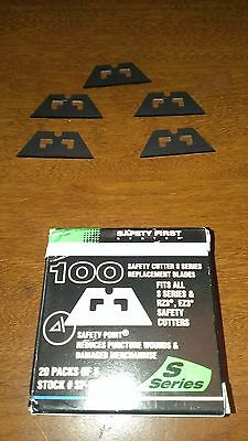 PHC Replacement Blades For S3/S4 Safety Cutter Silver 100 Pack  (STSP-017)
