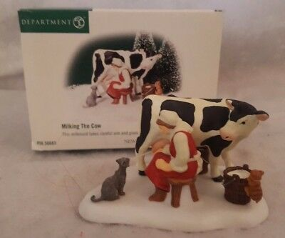 Dept 56 New England Village - Milking The Cow - 56.56683