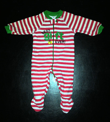Place Baby Christmas one-piece, Footed Sleepwear-Pajamas Size 6-9 months