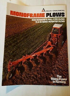ALLIS-CHALMERS Monoframe Plows Semi Mounted & Pull Type 70 & 80 series  Booklet