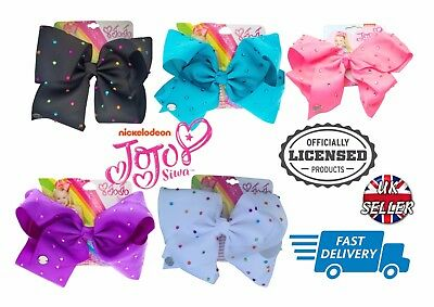 Officially Licensed Nickelodeon JoJo Siwa Large Bow Rhinestones