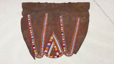 African Art: Superb Museum Quality Old (1940s or earlier) Maasai Beaded Skirt