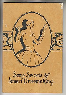 1927 Booklet - Some Secrets Of Smart Dressmaking - Woman's Institute Scranton Pa