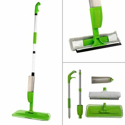 Green Floor Spray Mop Microfibre Water Spraying Home Kitchen Floor Tile Cleaner
