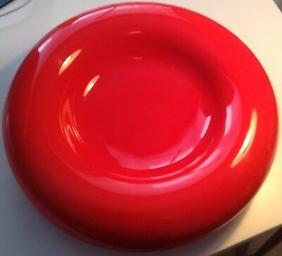 VINTAGE 70's PINO SPAGNOLO  SICART ITALY RED CERAMIC CENTERPIECE BOWL