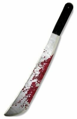 Jason Voorhees Machete Knife Friday the 13th Weapon Prop Rubies Bloody Realistic