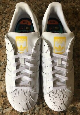 293cab4b66f2b Adidas Originals Superstar Pharrell Supersh S83349 Ftwwht yellow Super Rare