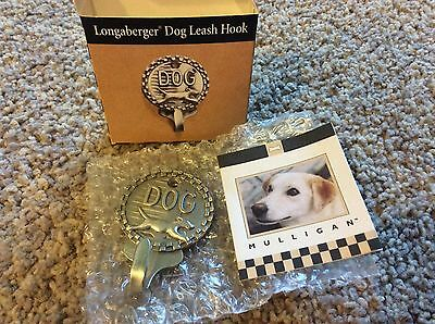 Rare 2000 Mulligan Longaberger Pewter Dog Leash Hook -73342Questions, please ask