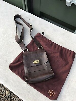eea74ec6b9 ... sale mulberry antony small messenger bag chocolate brown leather with  dust bag 46aec d5633