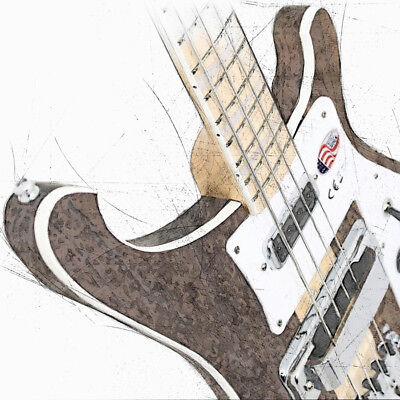 Rickenbacker Bass Guitar Canvas / Poster 3 Sizes Yes Chris Squire Lemmy