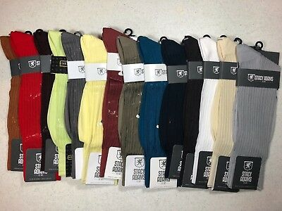 One Pair Brand New With Tag Stacy Adams Sliky Ribbed Men's  Short Dress Socks