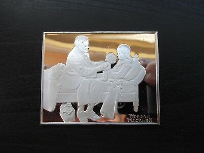 """Norman Rockwell's Fondest Memories in Proof Solid Sterling Silver """"The Patient"""""""