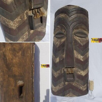 AUTHENTIC Songye Kifwebe Shield Sculpture Statue Figure Mask Fine African Art